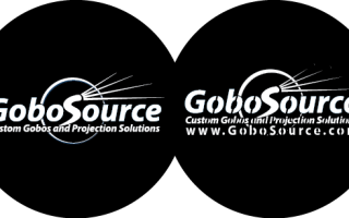 Glass gobo (left)  and Metal  gobo (right)