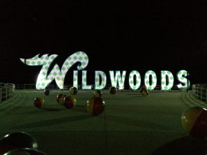 The Wildwoods Amusement Park projects seasonal designs with gobo projection to promote social media sharing.