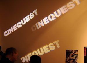 The Cinequest Film Festival projected a custom gobo across a wall to promote social media sharing.