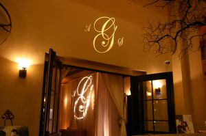 Personalize special occasions like a wedding or anniversary with a monogram gobo