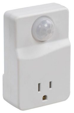 Standard motion activated electrical outlet
