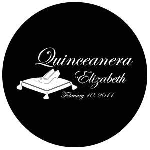 Quinceanera Gobo Glass QGBW-03 Edwardian Script