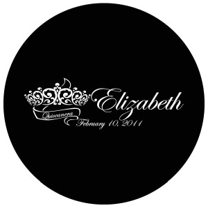 Quinceanera Gobo Glass QGBW-05 Edwardian Script