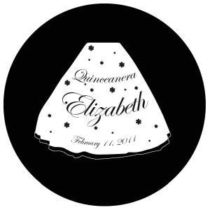 Quinceanera Gobo Glass QGBW-06 Edwardian Script