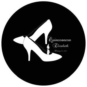 Quinceanera Gobo Glass QGBW-10 Brock Script
