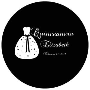 Quinceanera Gobo Glass QGBW-11 Brock Script