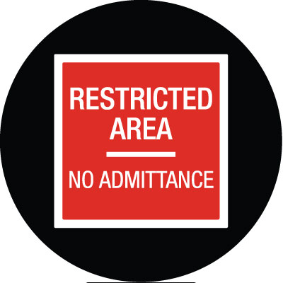 Restricted Area Gobo S1109-2c