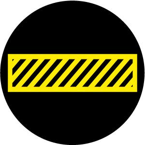 Black and Yellow Crosswalk S1146-1C