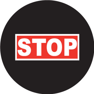 STOP Rectangular Framed S1135-2c